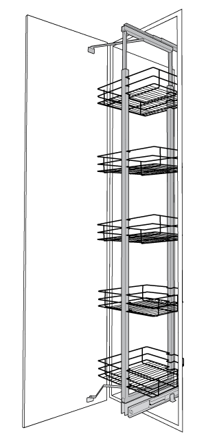 Pull & Swing Pantry Units 1900mm / 2140mm
