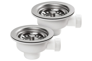 Rangemaster Kitchen Sink Waste Kit - For Double Bowl Classic Belfast Sink