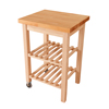 Wood Kitchen Trolley with Beech Tabletop