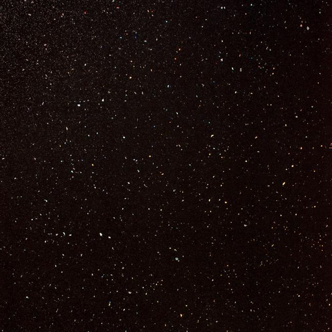 Black Sparkle Worktop Edging Strip Andromeda 1530 X