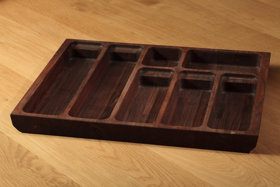 Solid American Walnut Cutlery Tray Insert 310mm Solid