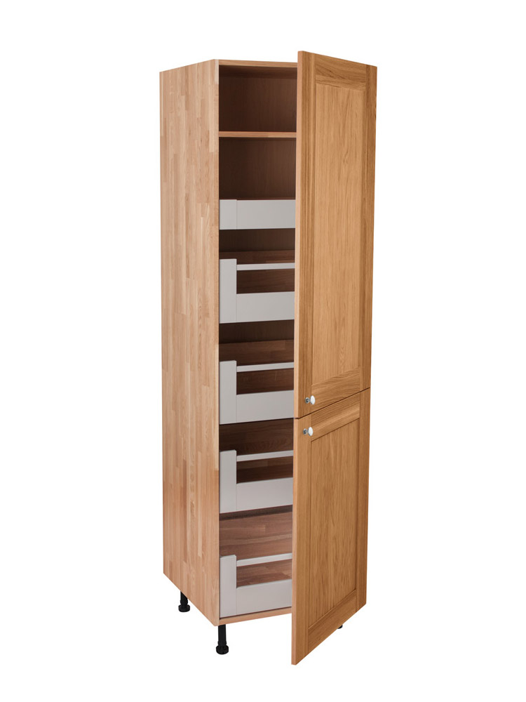 kitchen tower cabinet solid oak height blum space tower cabinet 2 x split 3380