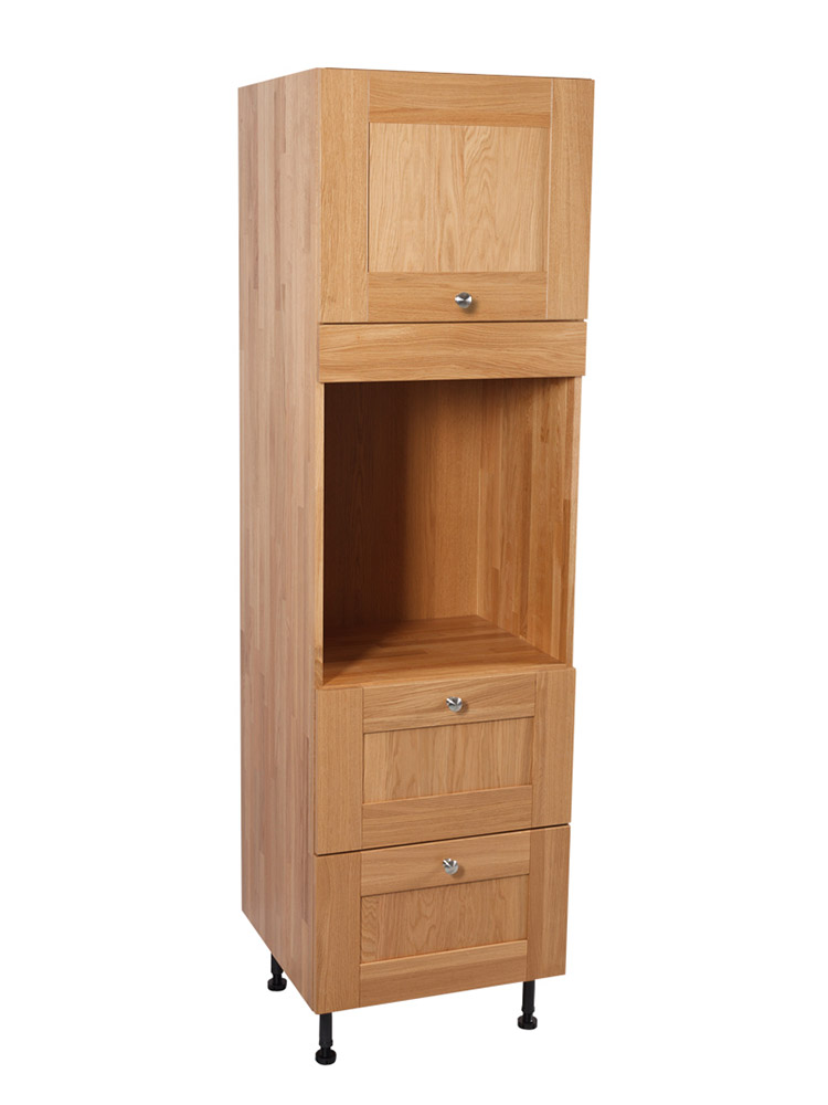 Solid Oak Kitchen Full Height Single Oven Cabinet H1965mm X W600mm X D570mm Shaker Lacquered