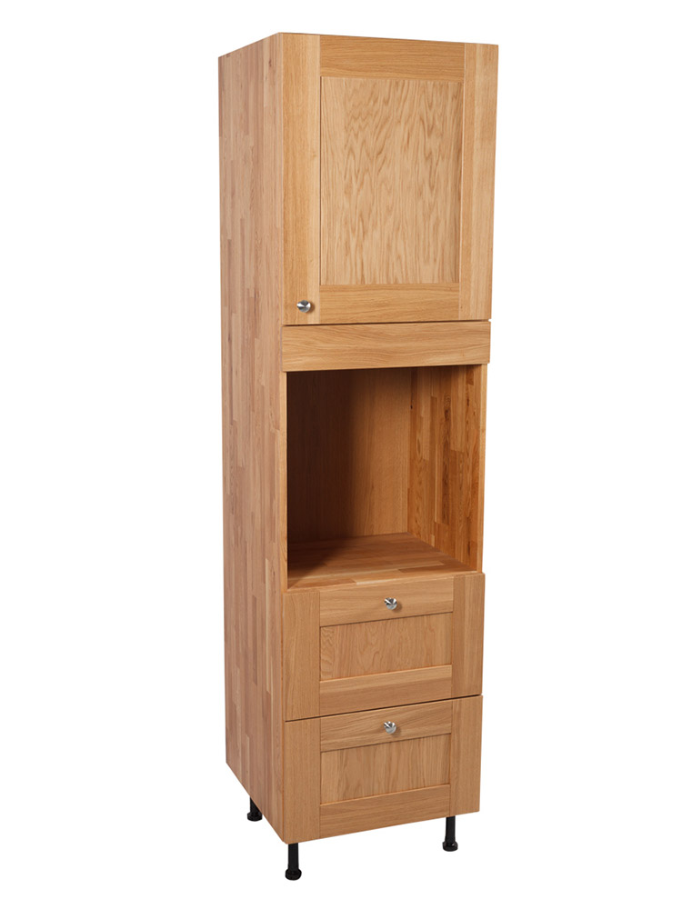 Solid oak kitchen full height single oven cabinet for Individual kitchen cupboards