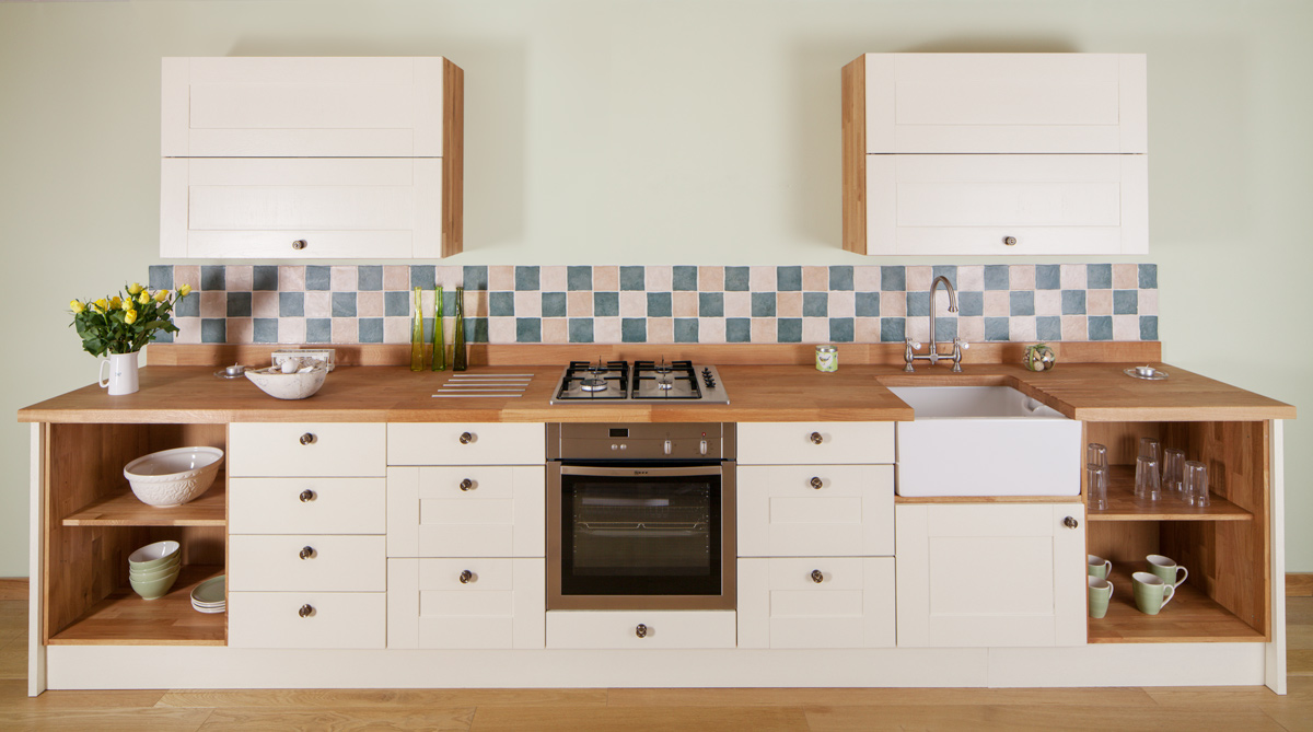 Solid Oak Kitchen   Small   Solid Wood Kitchen Cabinets