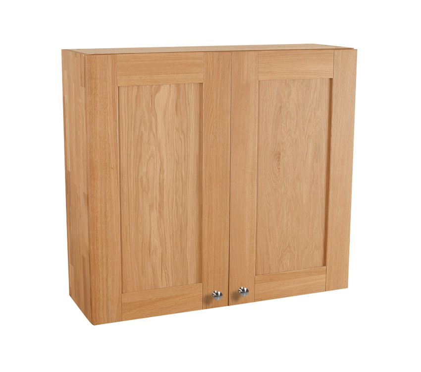 Solid oak kitchen wall cabinet h900mm x w1000mm x d300mm for Full wall kitchen units