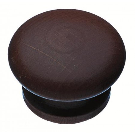 solid wooden knob stained amp lacquered 43mm