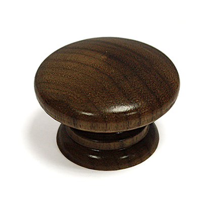 Solid Walnut Knob - Lacquered - 42mm