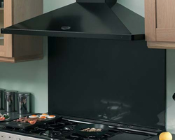 Rangemaster chimney hood in black.