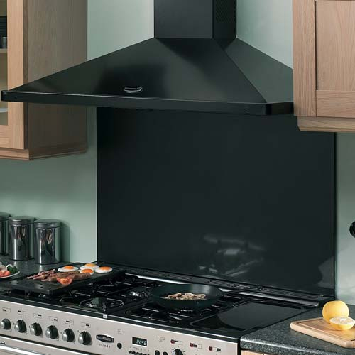 Black Chimney Style Range Hoods ~ A handy guide to cooker hoods for solid wood kitchens