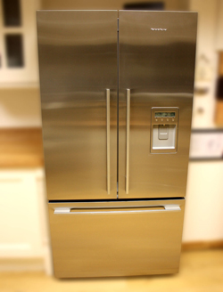 Fisher & Paykel Three Door Freestanding Fridge Freezer in our Gloucester Showroom