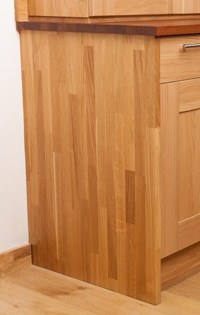 Solid oak end panels