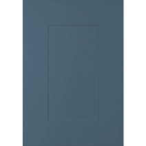 Farrow & Ball's Stiffkey Blue works particularly well with marble effect worktops and copper or brass accessories
