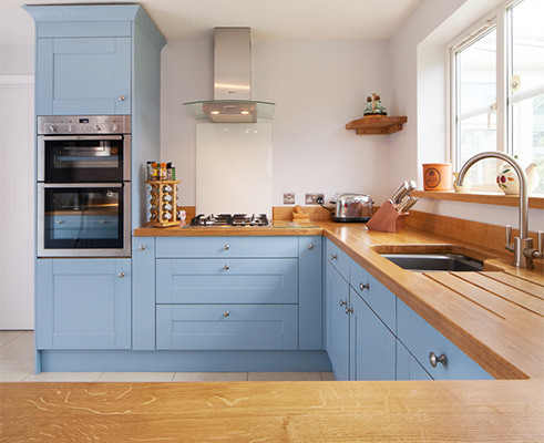 Shaker frontals in Lulworth Blue.