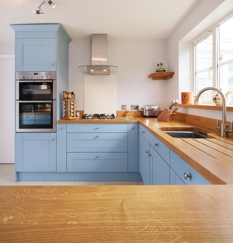 Shaker Frontals In Lulworth Blue