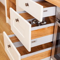 Solid oak kitchen drawers with Blum antaro grey sides