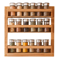 Our solid oak spice rack is a fantastic gift idea for smaller oak kitchens, as it provides plenty of additional storage space for herbs and spices.
