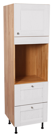 Full Height Cabinets - Single Oven Cabinet with Single Door, Two Large Pan Drawers & Dummy Drawer
