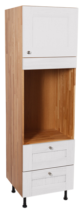Full Height Cabinets - Double Oven Cabinet with Single Door, Two Pan Drawers & Dummy Drawer
