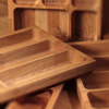 Solid Wood Cutlery Tray Insert for Drawers