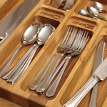 If your kitchen drawers need more organisation, why not consider our Solid Wood Cutlery Tray?