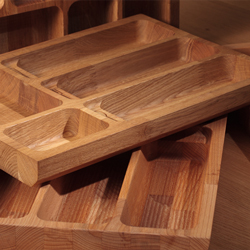 Our solid wood cutlery trays help keep kitchen drawers tidy