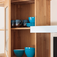 Solid wood kitchen wall cabinet