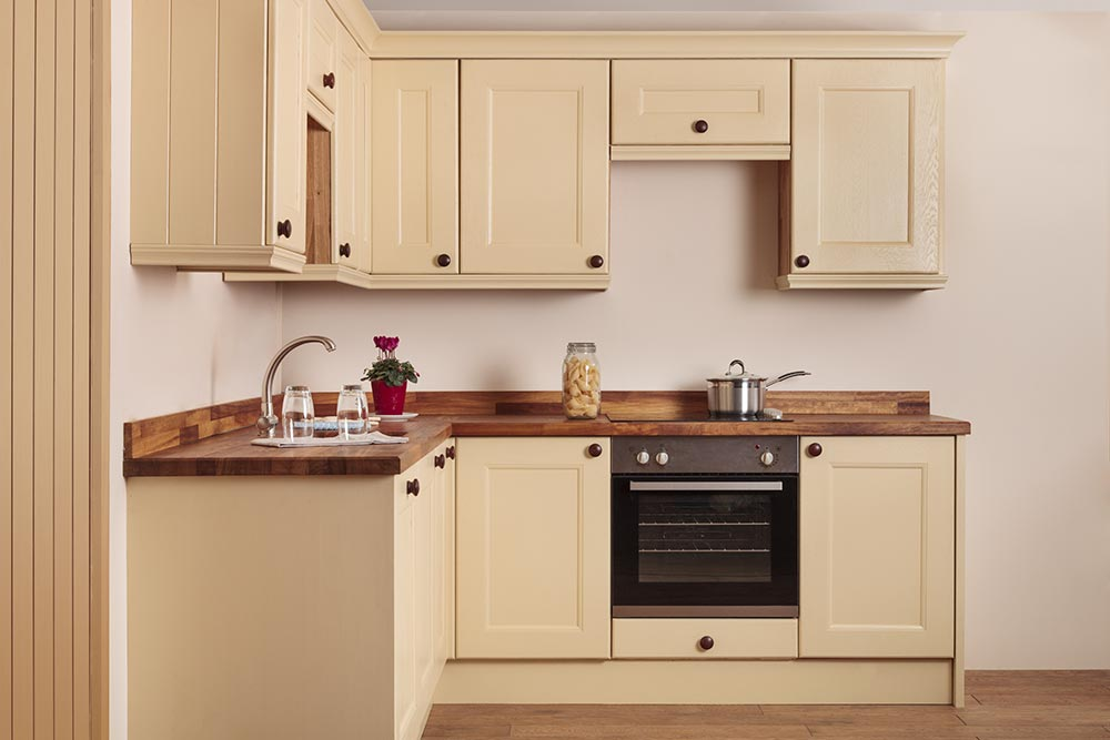 Specialist solid oak kitchen cabinets in curved belfast for Kitchen cabinets 500mm