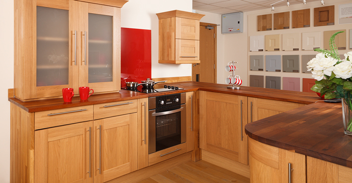 Redhill oak kitchens showroom