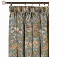Strawberry Thief curtains are a stylish way to incorporate William Morris in your kitchen