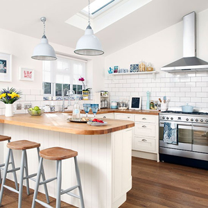 White subway tiles look clean and fresh oak kitchens.