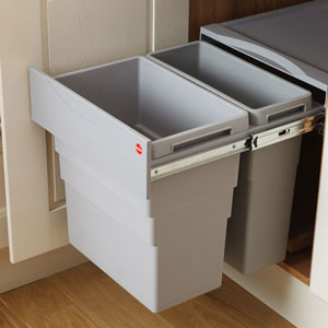 Our kitchen waste bins are perfect for storing rubbish out of sight and fit perfectly within our standard cabinets.