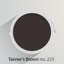 Tanner's Brown is a strong, dark brown with red undertones, perfect for creating a cosy kitchen
