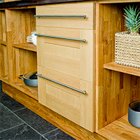 Solid Oak Base Cabinet