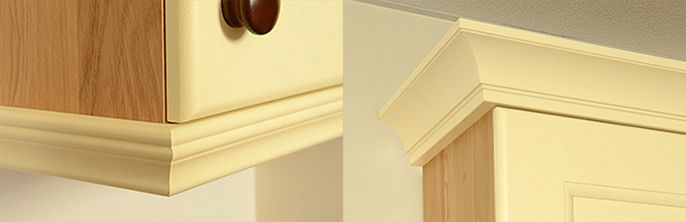 Cornices and pilasters are the perfect finishing touch for solid oak kitchens