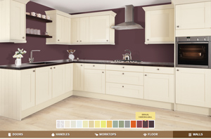 How to use our kitchen style tool to design oak kitchens.