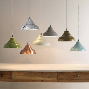 These vintage pendant lights can be used to pick out an accent if all white kitchen designs aren't for you