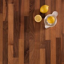 Walnut worktops have a gorgeous curly grain and varied colour that makes them ideal for luxurious traditional kitchens.