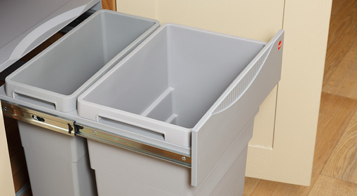Easy-Cargo kitchen waste bin 19+30L