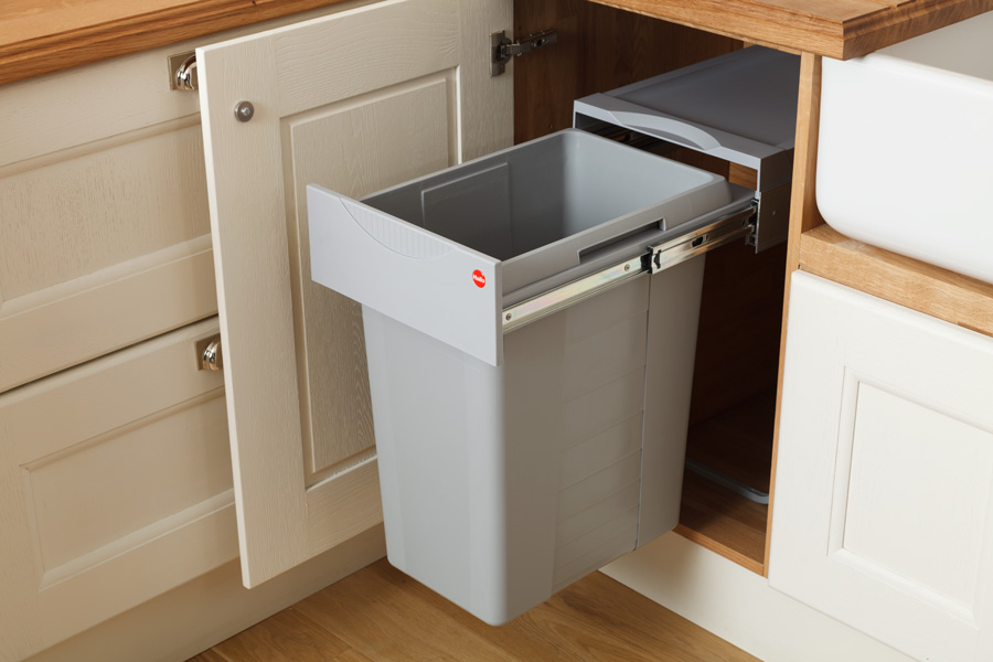 Kitchen waste bins solid wood kitchen cabinets
