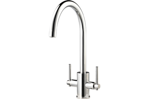 Our WEX Telesto tap has a modern design that is ideal for mixing with the Reginox Contemporary Belfast Sink.