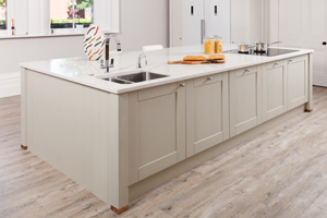 Kitchen islands are a freestanding arrangement within oak kitchens.