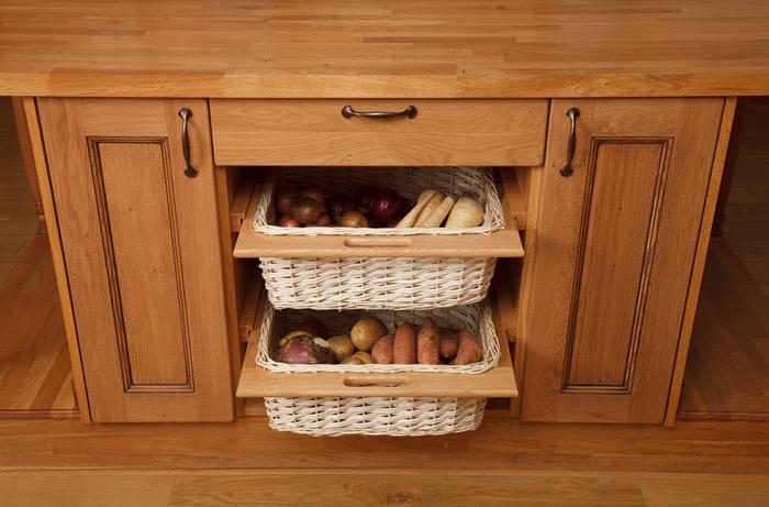 Basket Storage With Drawers Cabinets ~ Wicker baskets storage solid wood kitchen cabinets