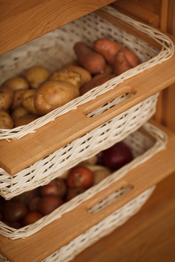 Wicker Baskets Amp Storage Baskets Solid Wood Kitchen Cabinets