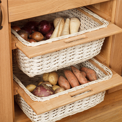 Wicker baskets are a decorative storage solution