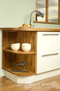 Contemporary oak kitchen carcass bespoke handmade real for Kitchen carcasses only
