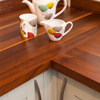 Choose from our wide range of wooden worktops to complement oak cabinets.