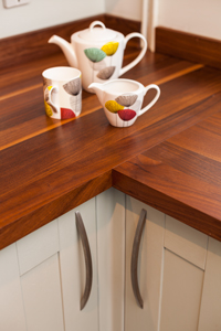 Wooden worktops are a stunning feature in solid wood kitchens in correctly maintained.