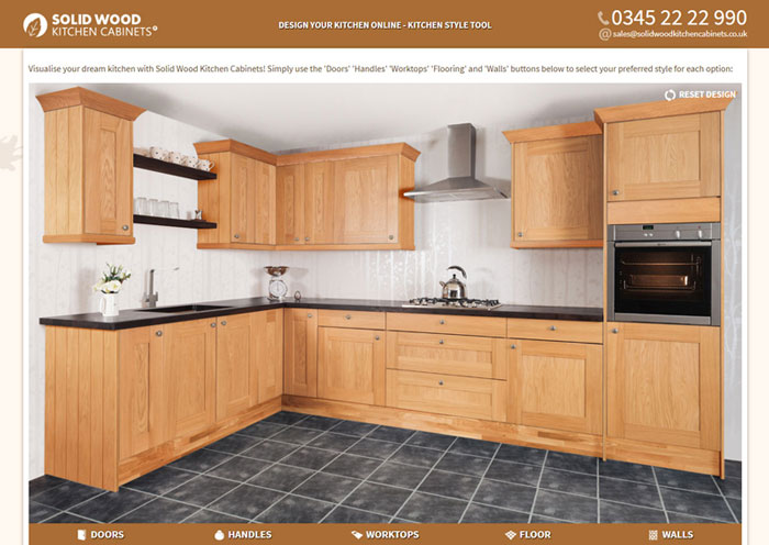 Kitchen Style Tool User Interface