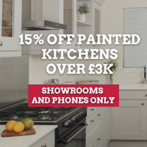 15% OFF PAINTED KITCHENS OVER £3K